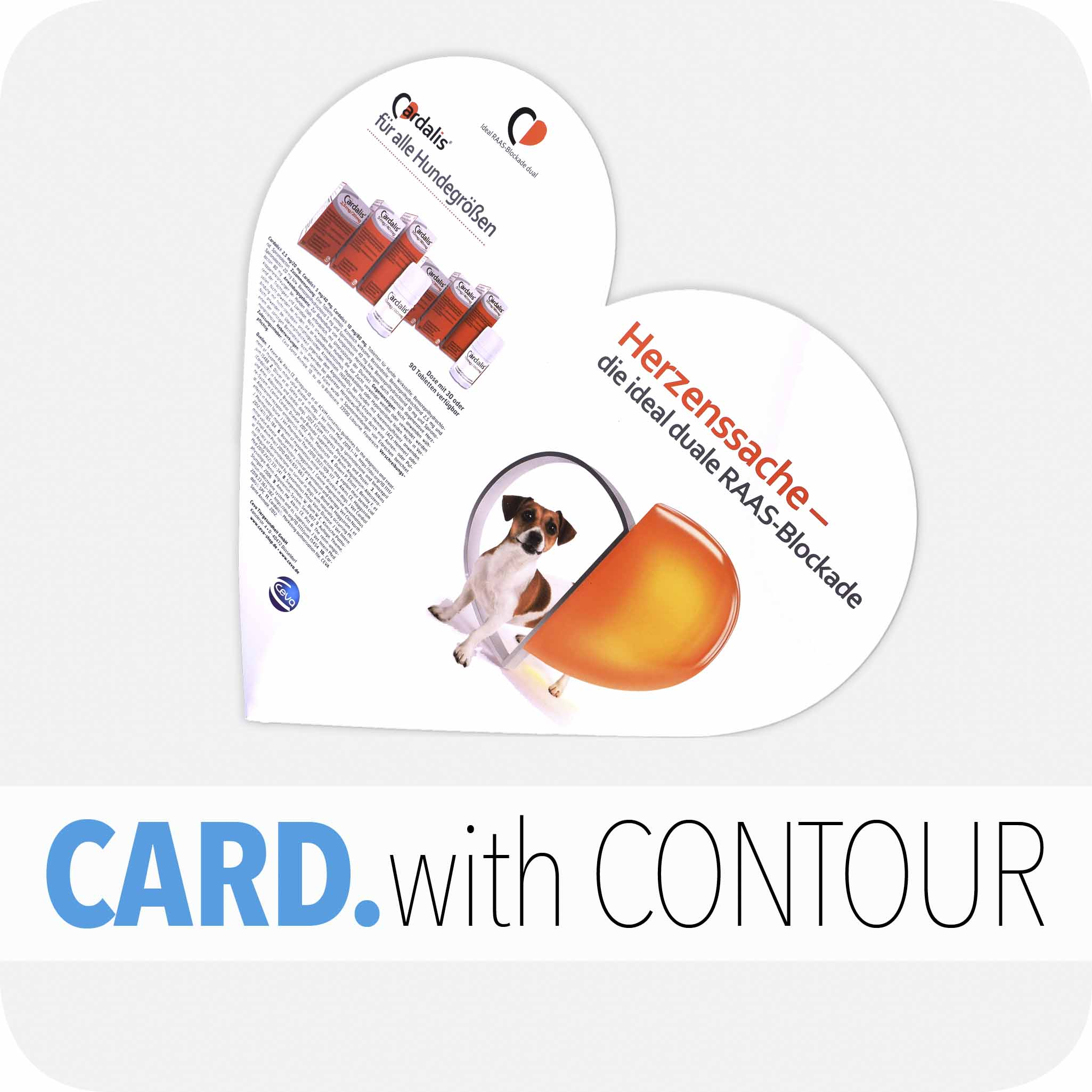Card with contour