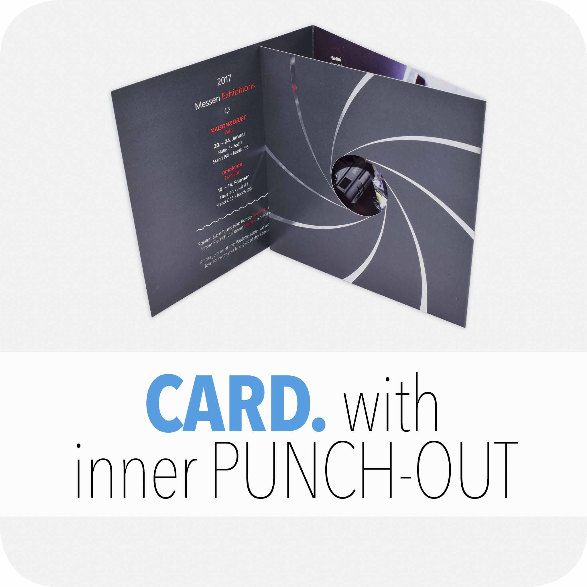 Card with inner punch-out
