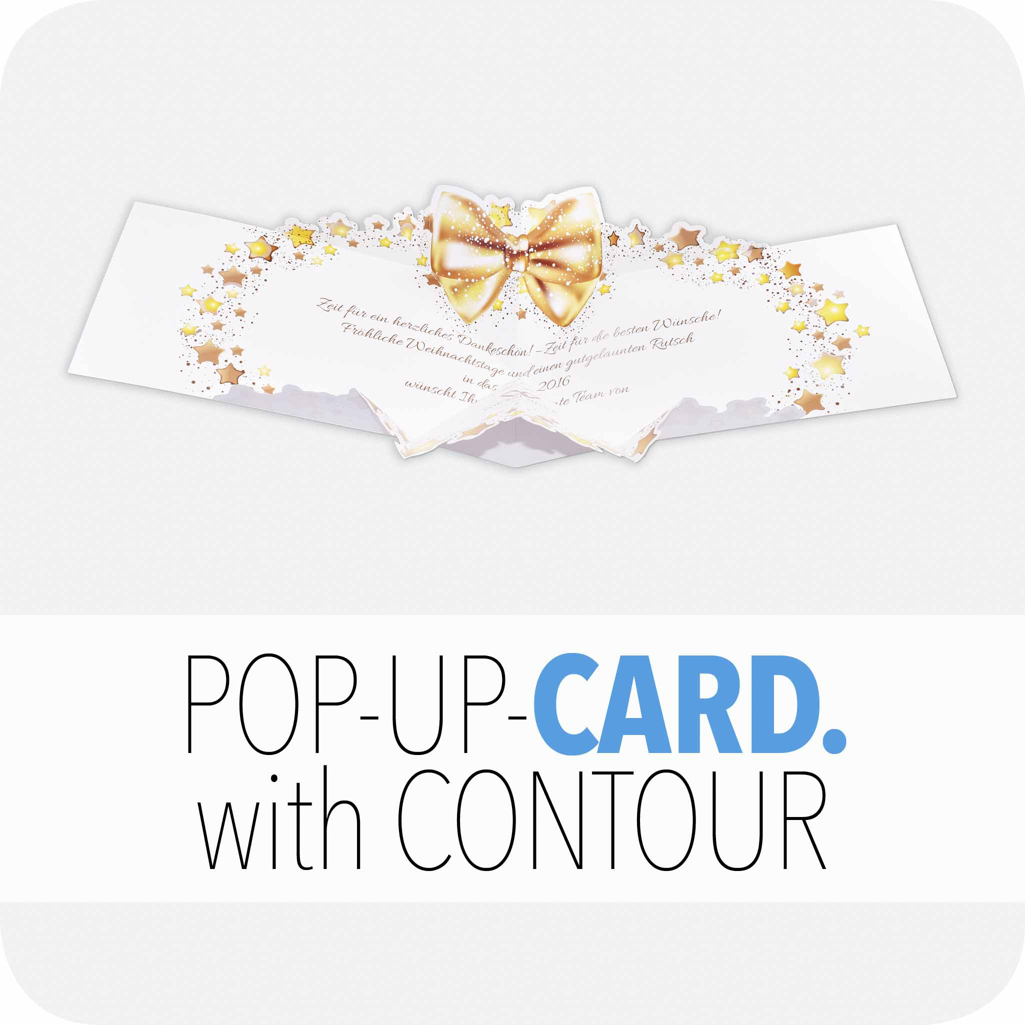 Pop-up card with contour