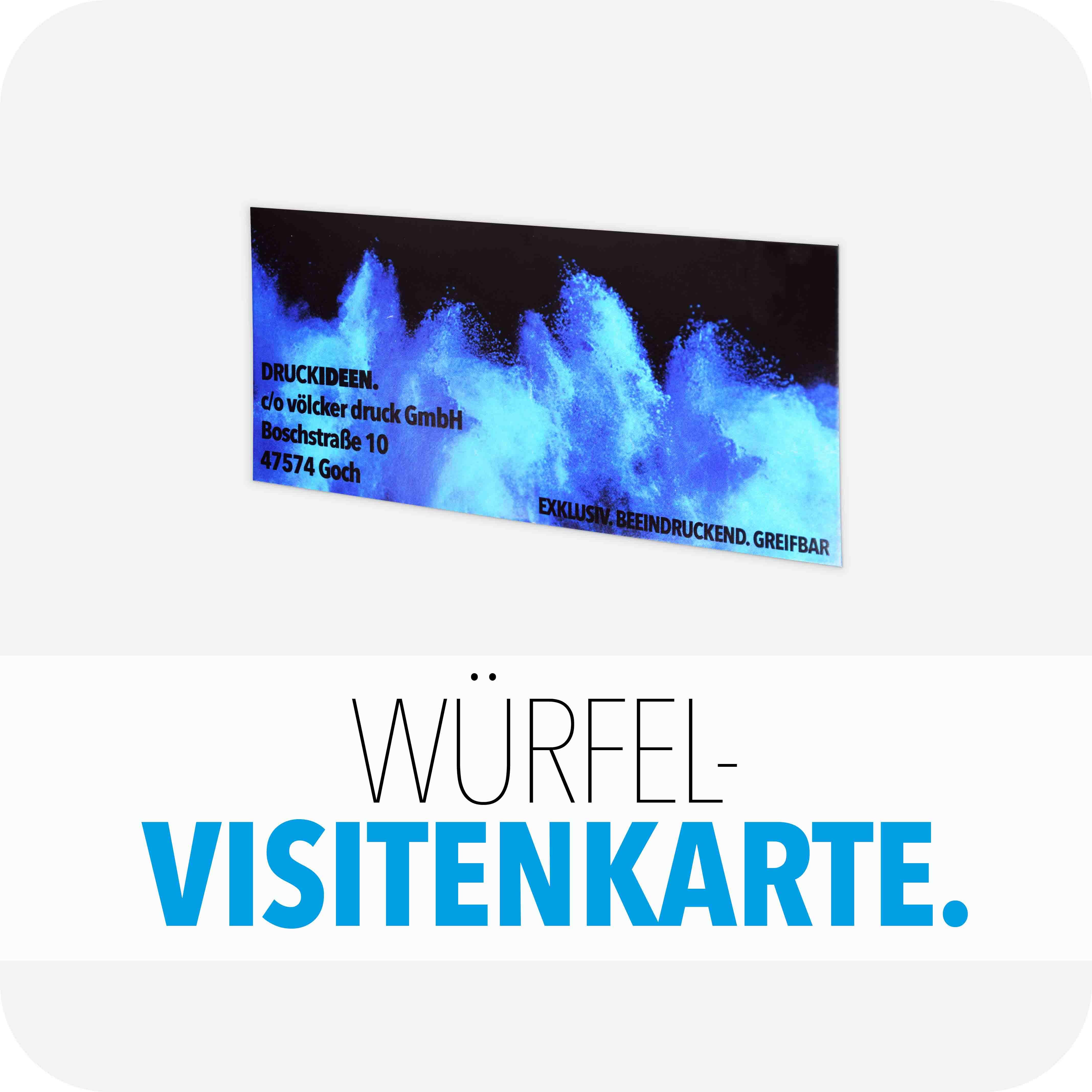 Würfel-Visitenkarte
