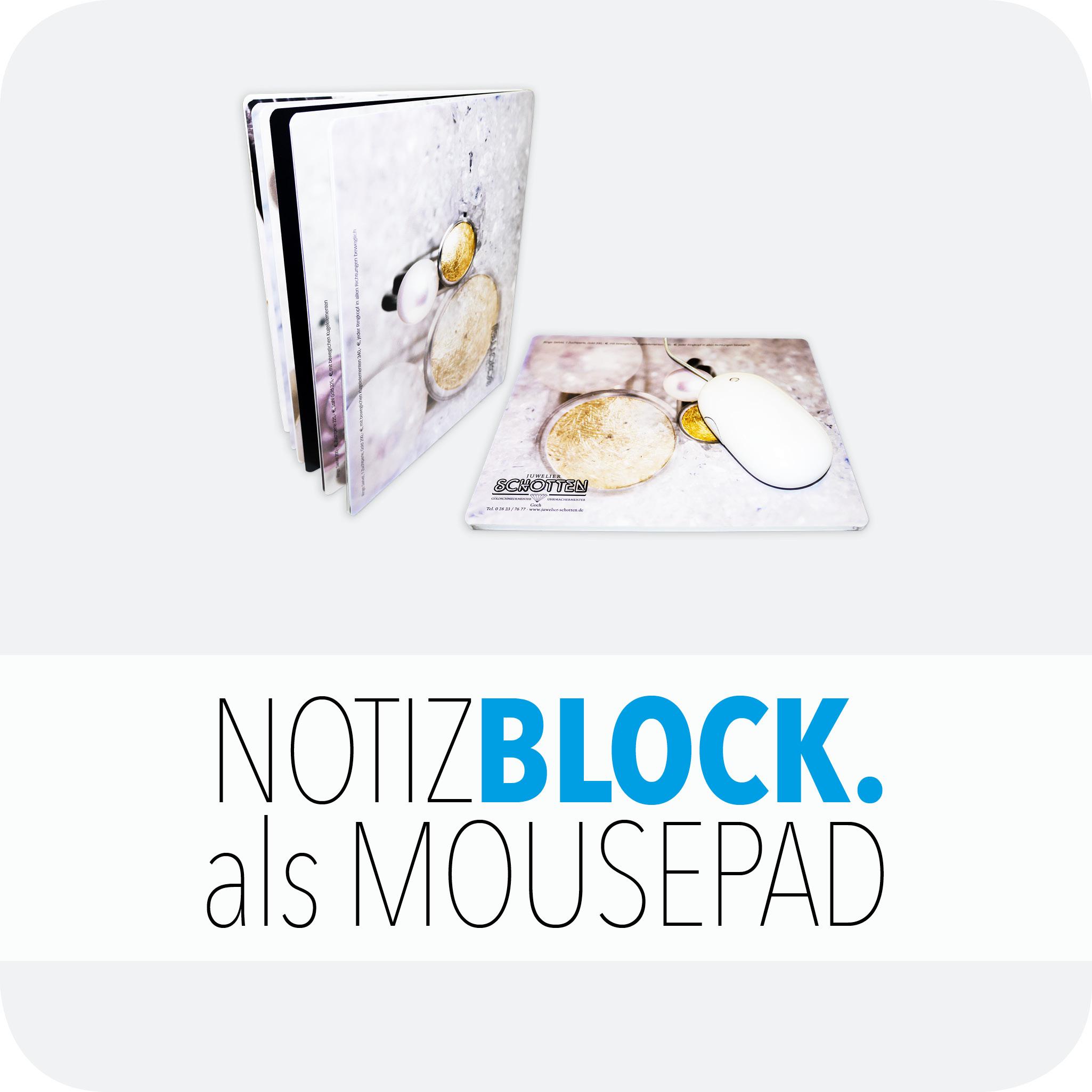 Notizblock als Mousepad