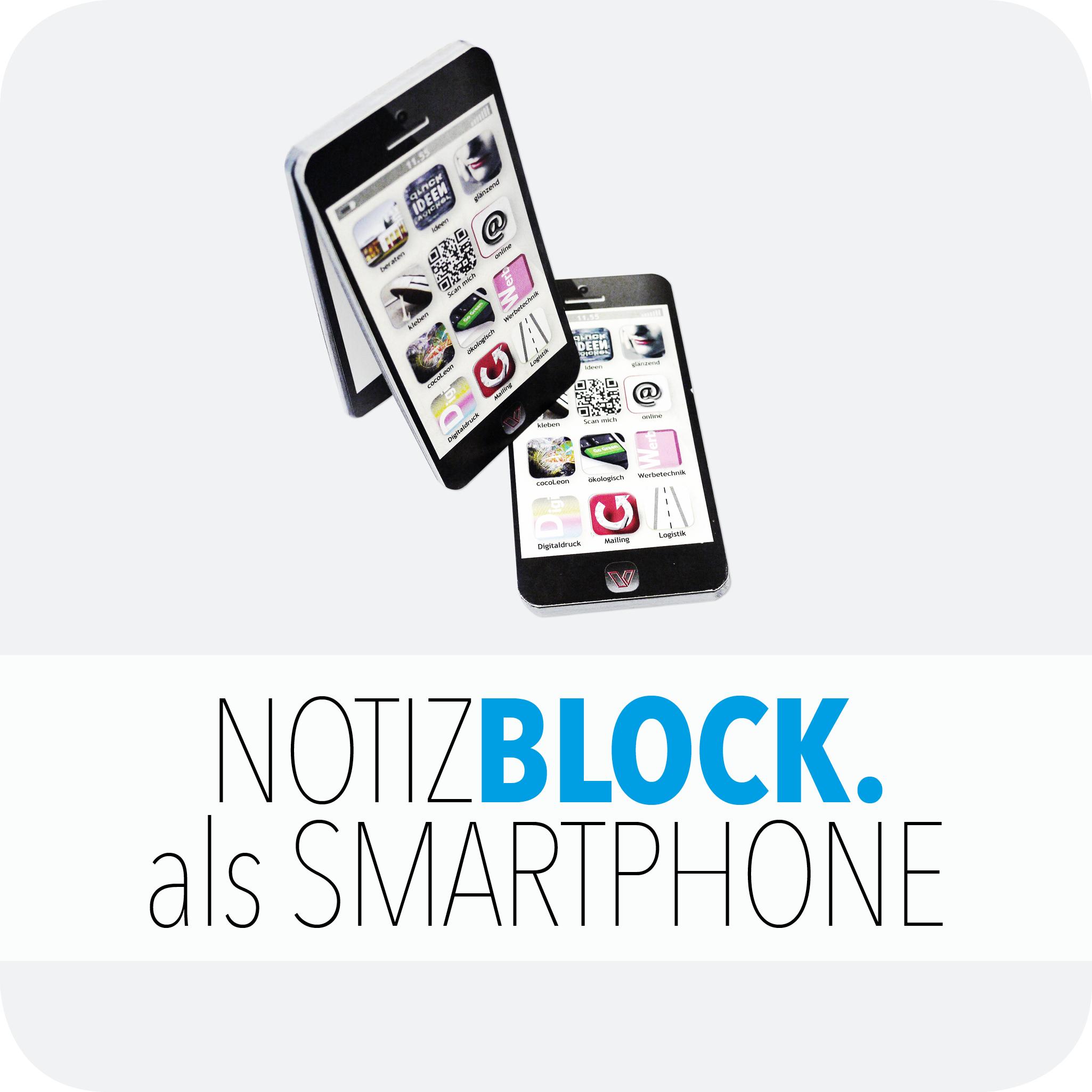 Notizblock als Smartphone