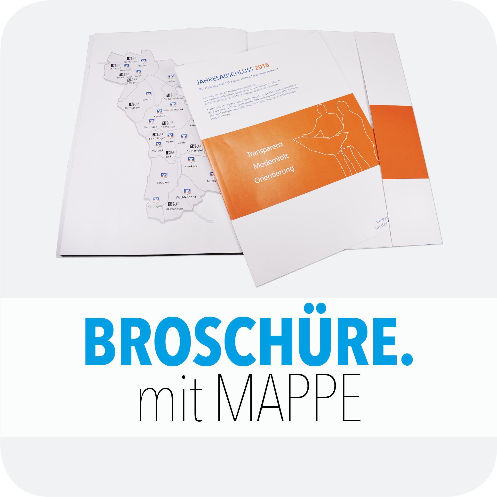 Broschüre mit Mappe