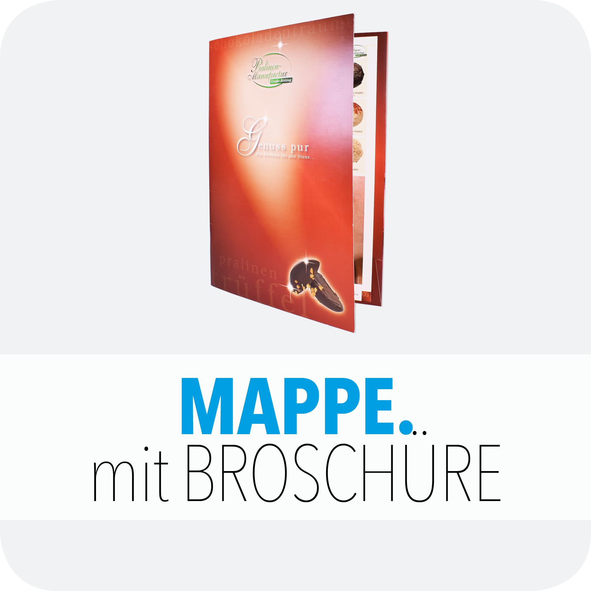 Mappe mit Broschüre