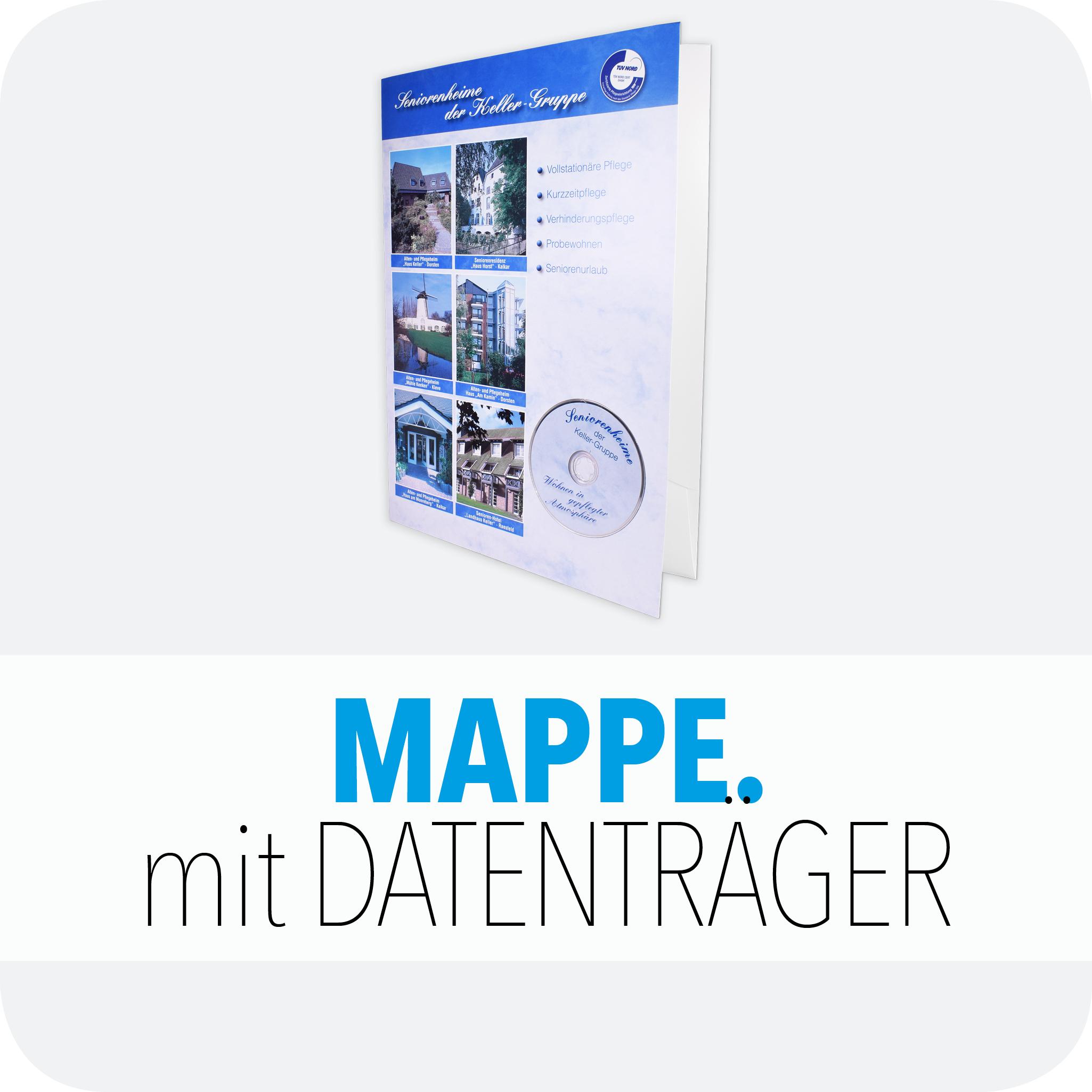 Mappe mit Datenträger