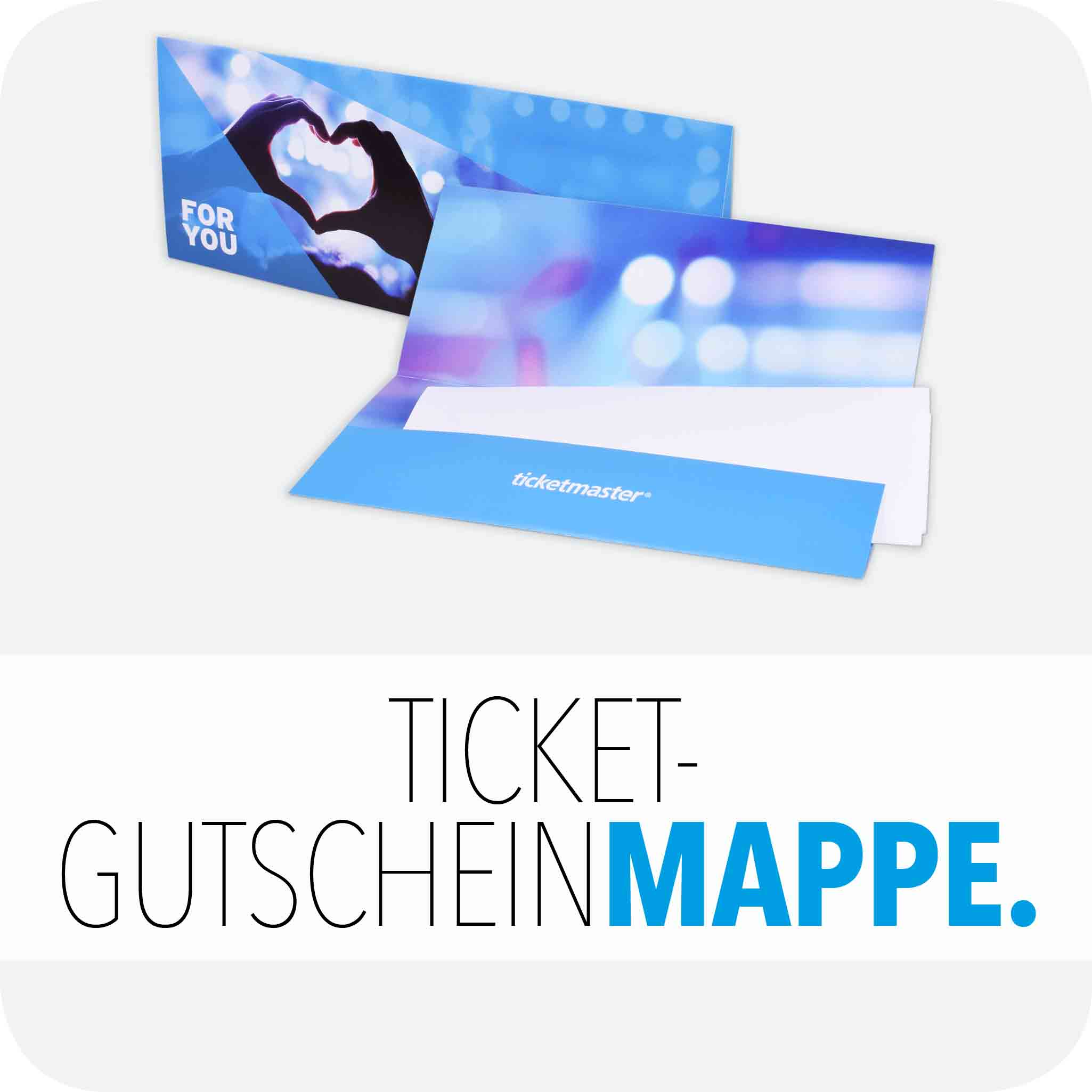 Ticket-/Gutscheinmappe