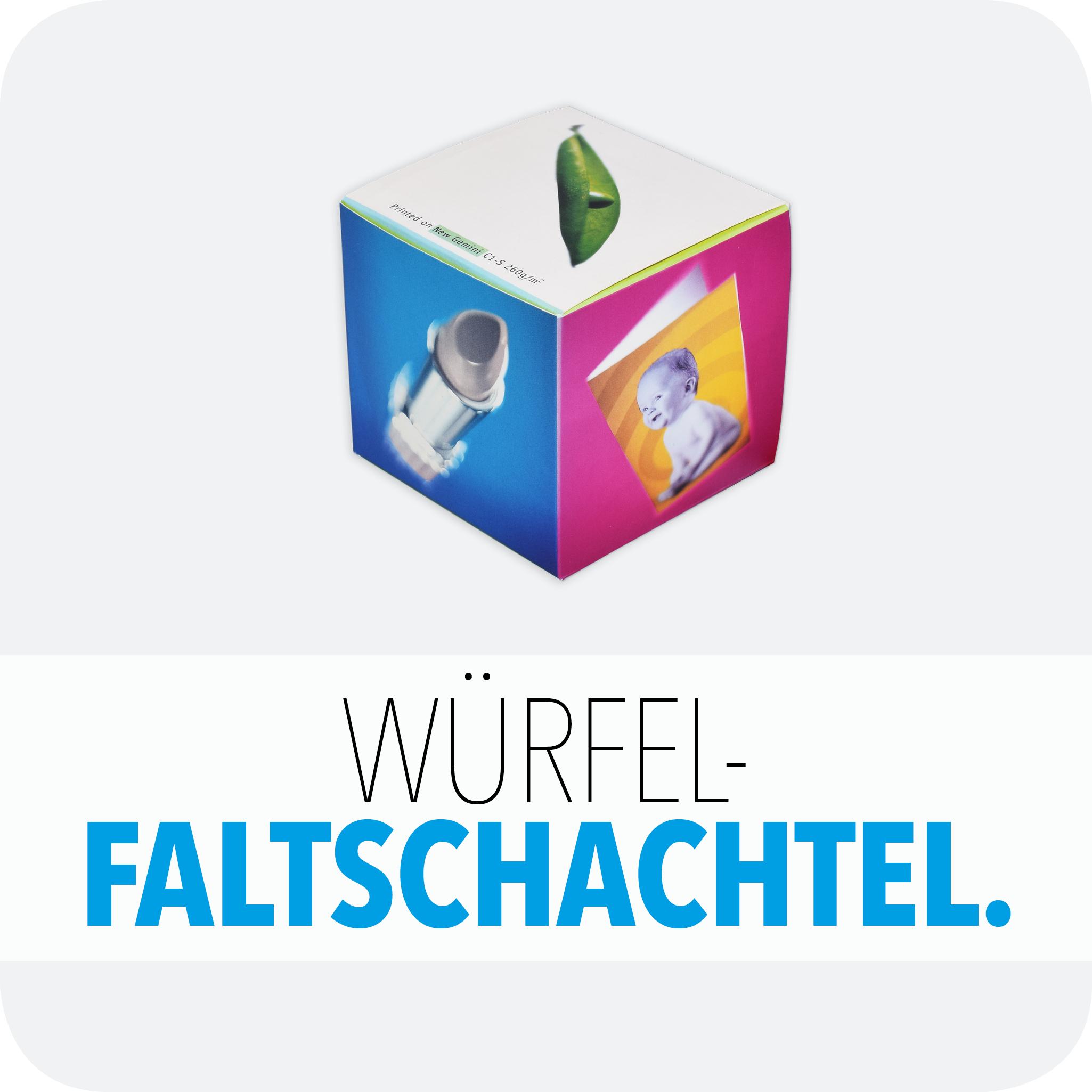 Würfel-Faltschachtel