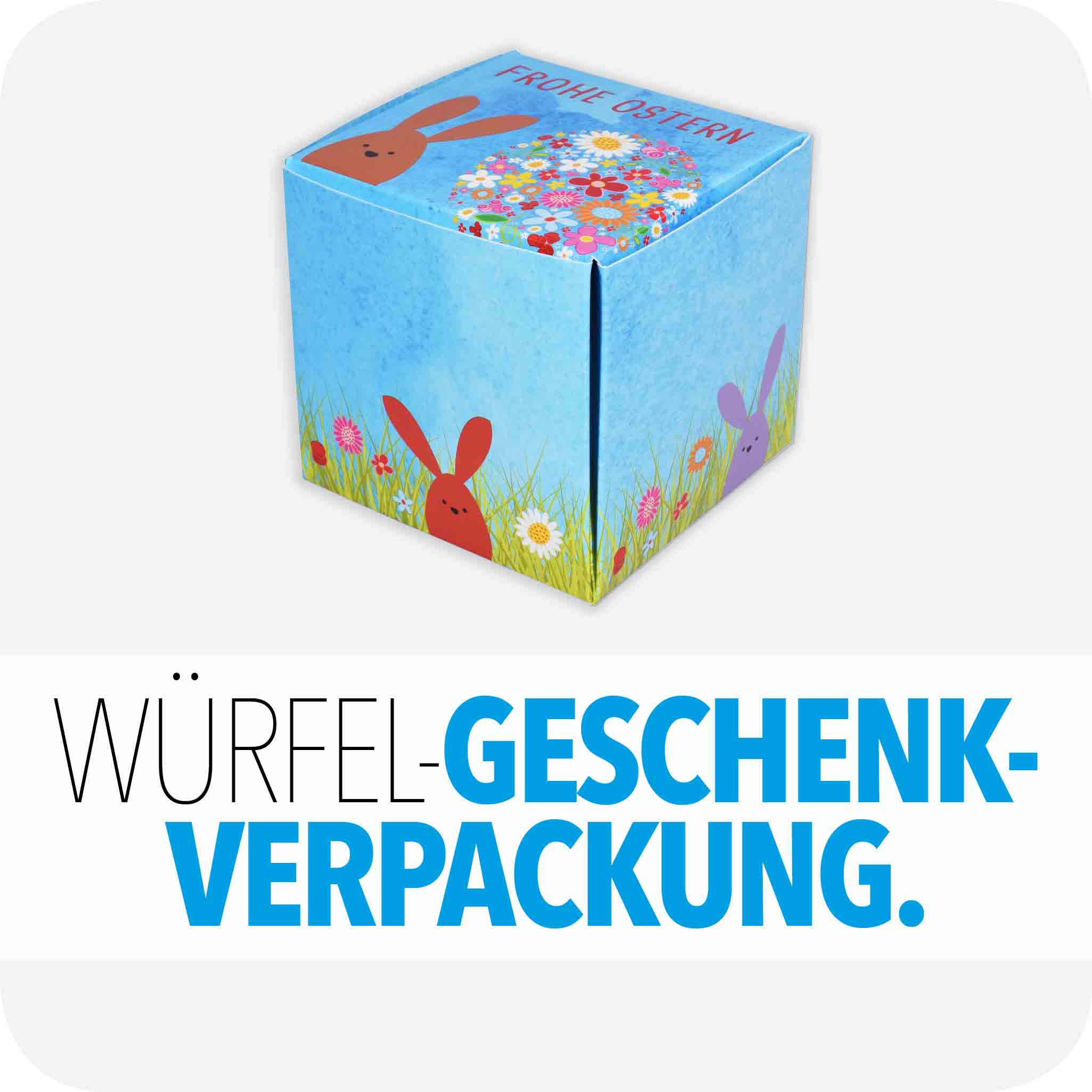 Würfel-Geschenkevrpackung