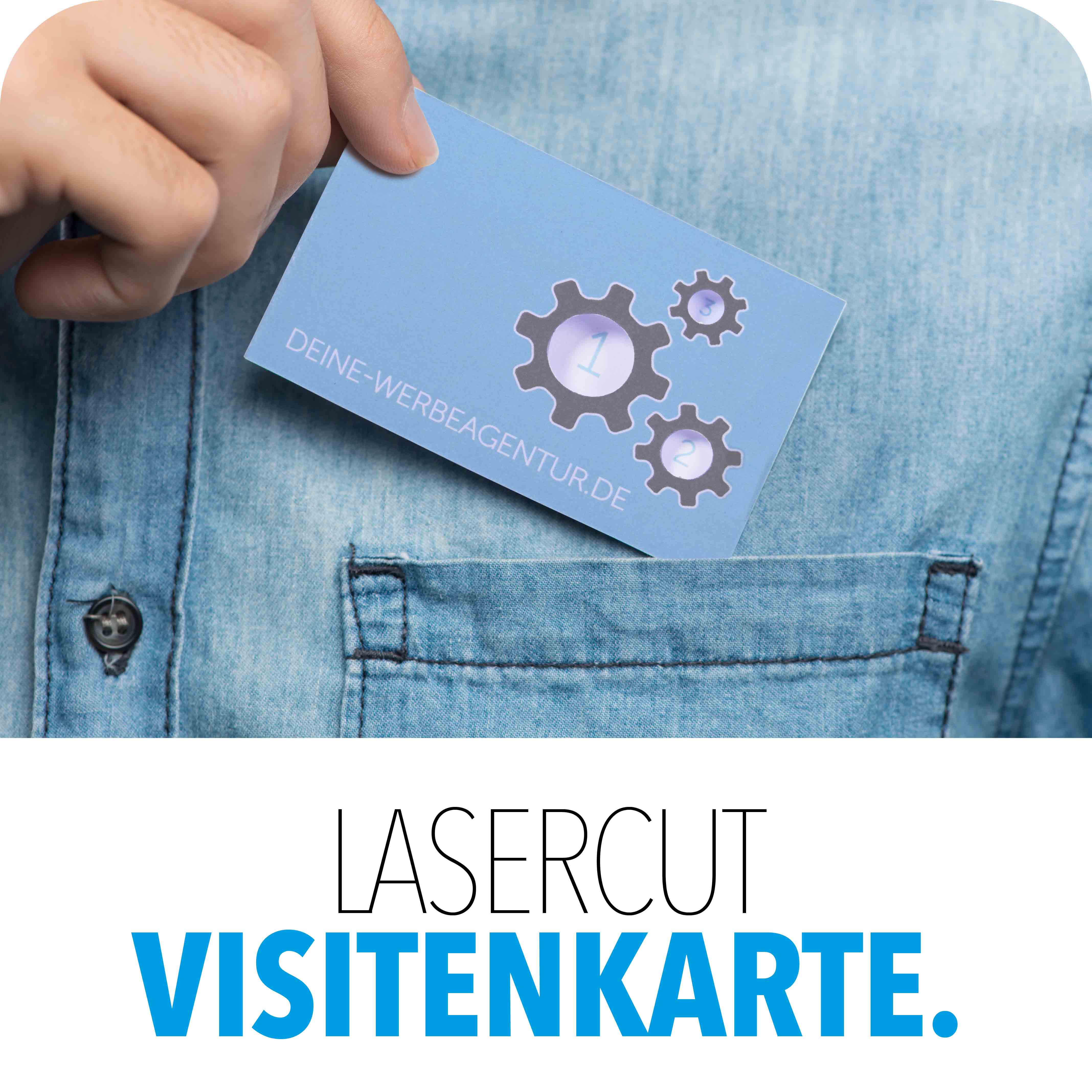 Visitenkarte mit Lasercut