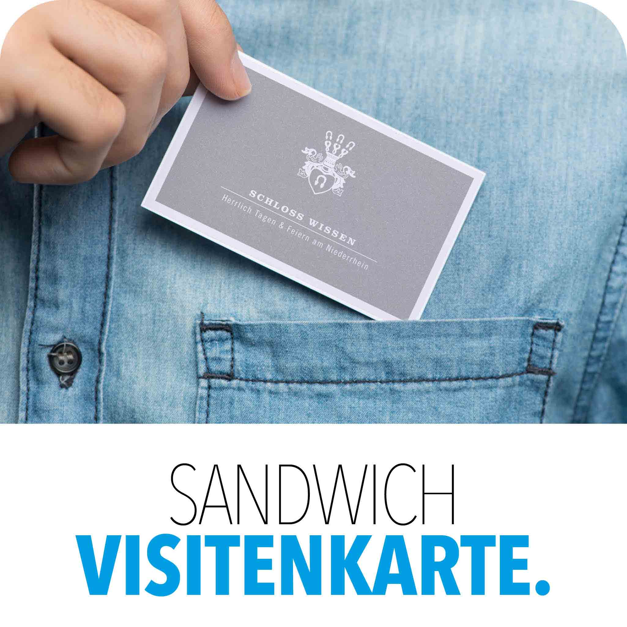 Visitenkarte als Sandwichkarte