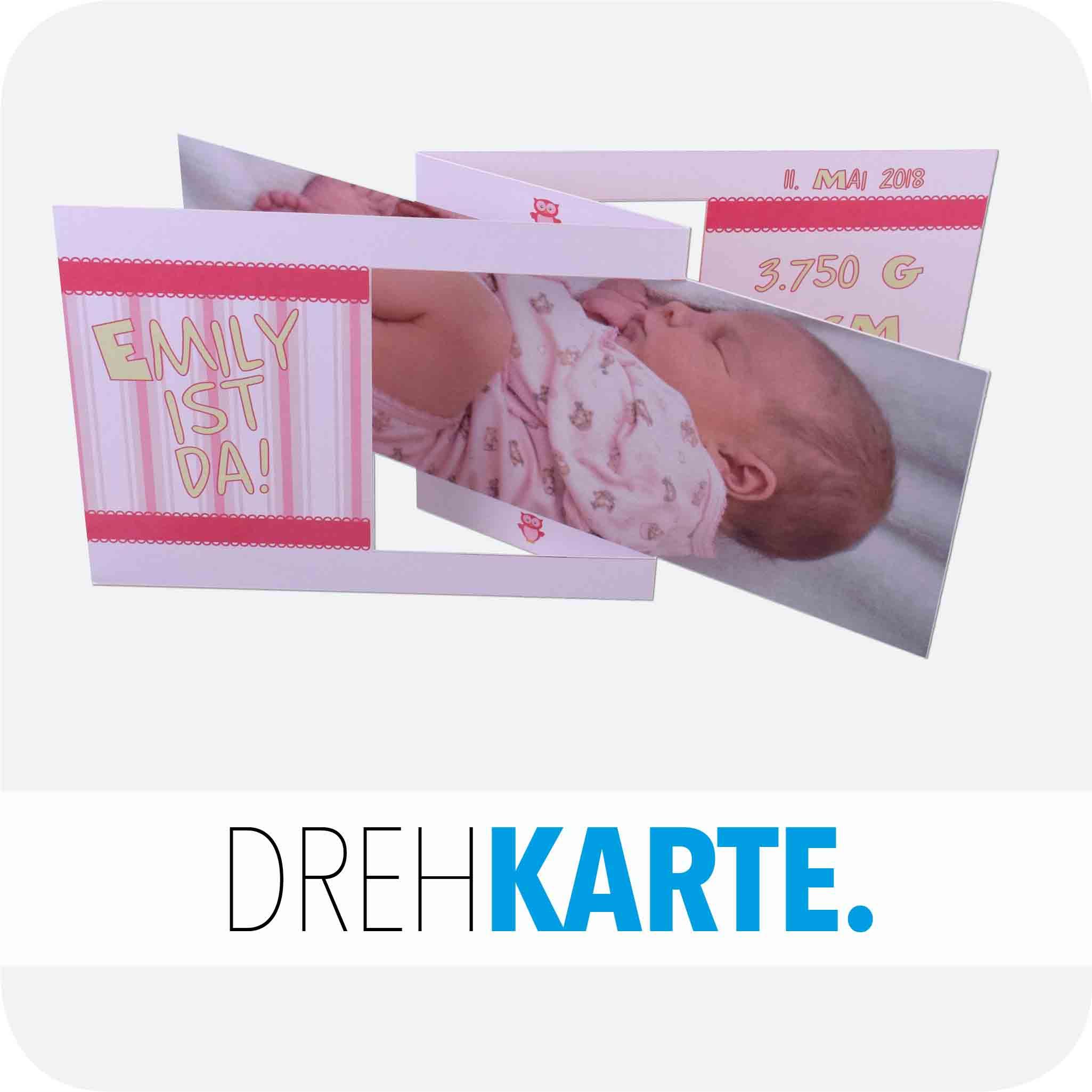 Geburt Drehkarte