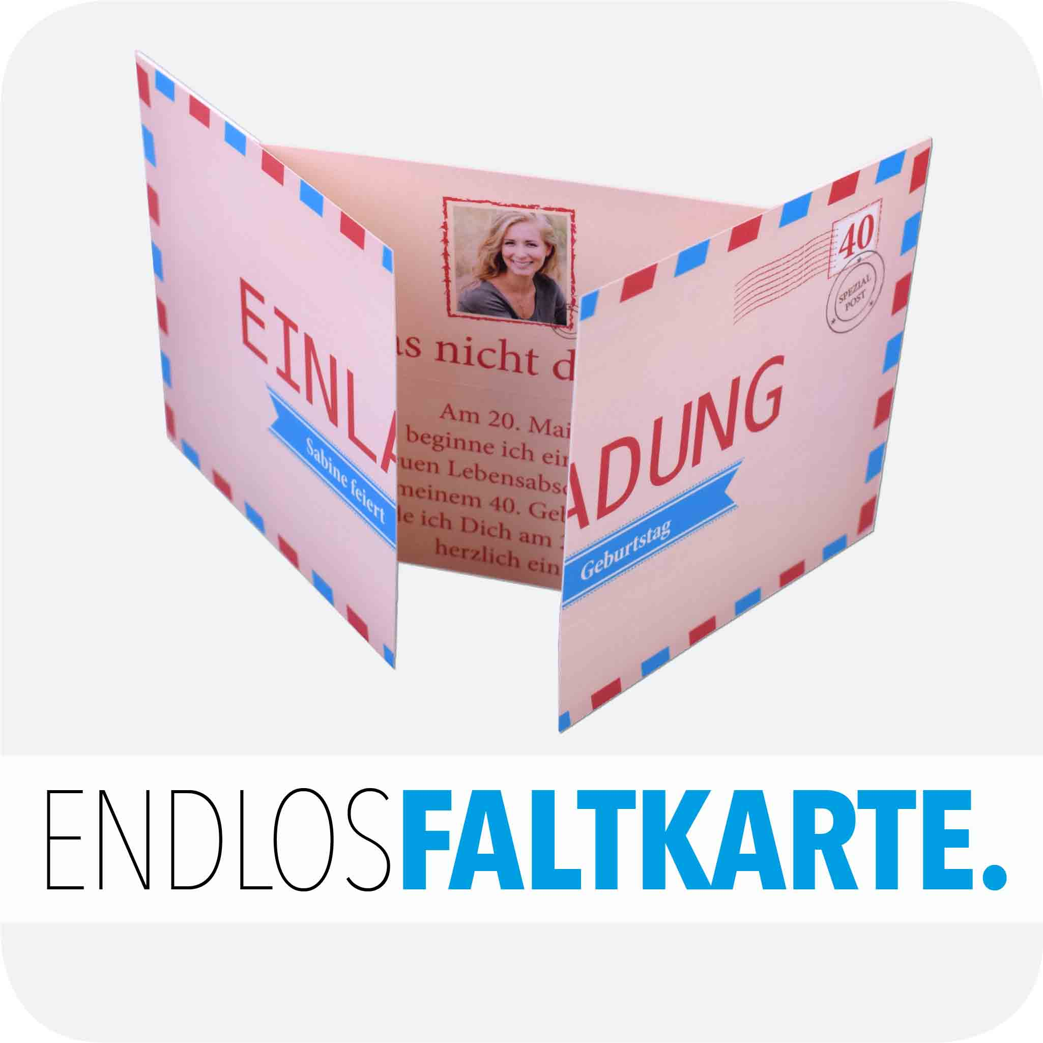 Geburtstag Endlos-Faltkarte