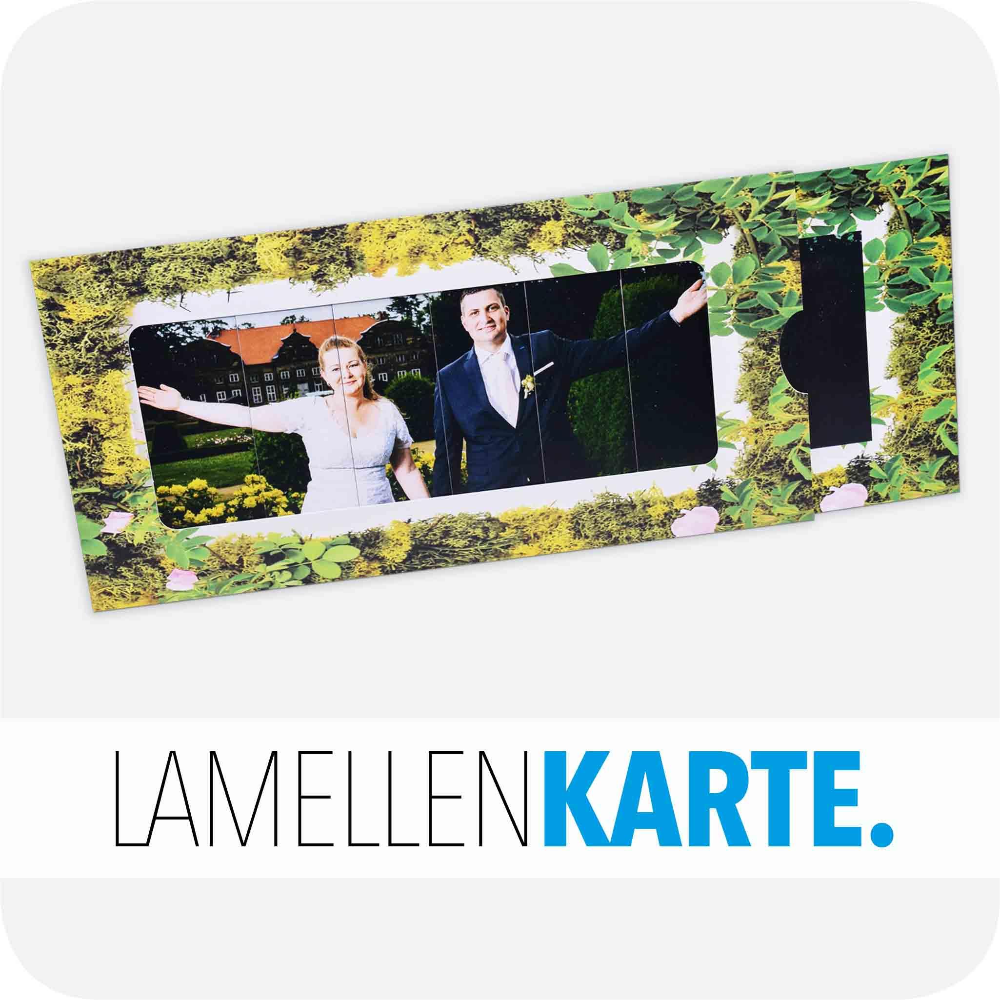 Hochzeitseinladung Lamellenkarte
